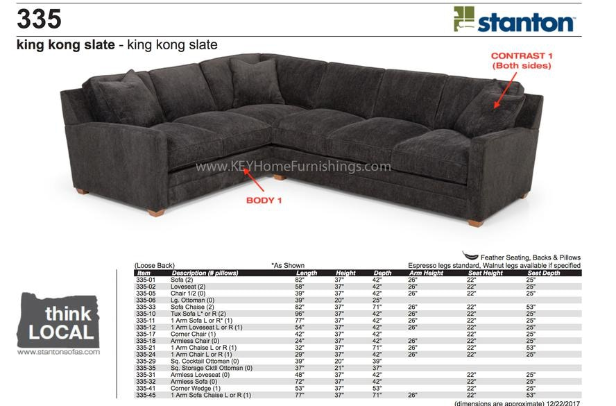 Bon Stanton Furniture King Kong Slate Sectional 335 Sectional In Portland,  Oregon