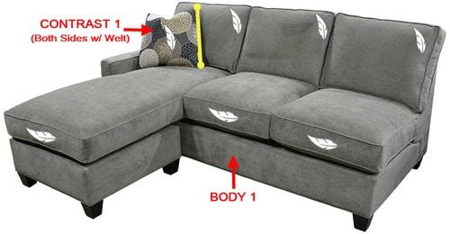 Stanton Furniture 358 Right Side Facing Tux Sofa 35810R