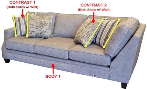Stanton Furniture 358 Right Side Facing 1 Arm Sofa 35811R