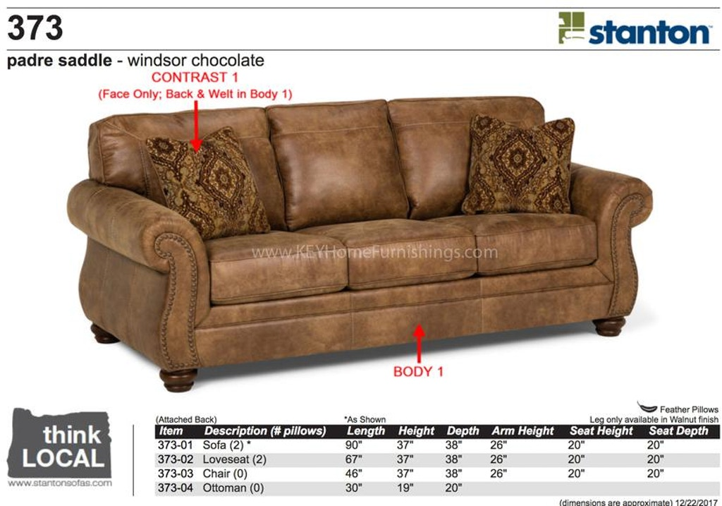 Stanton Furniture Sofa 37301 In Portland Oregon