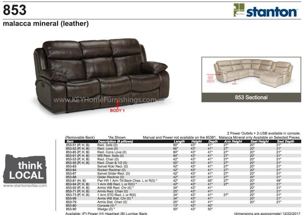 Prime Stanton Power Headrest Dual Reclining Sofa 85351Ph Interior Design Ideas Clesiryabchikinfo