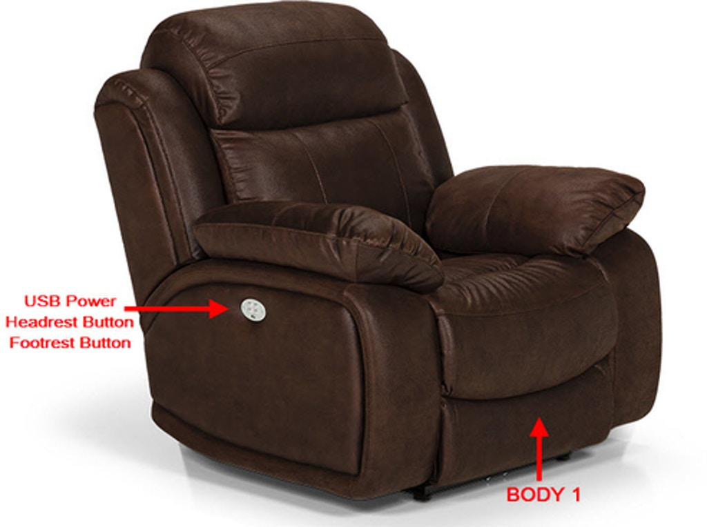 Incredible Stanton Furniture 853 Power Headrest Lumbar Reclining Chair Interior Design Ideas Clesiryabchikinfo