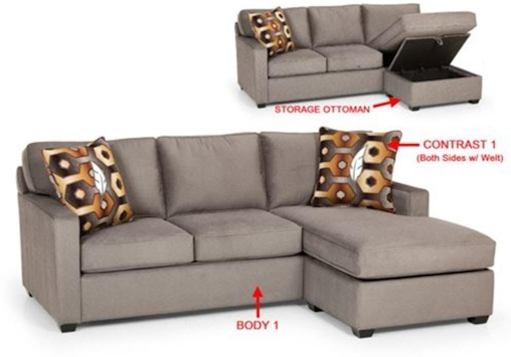 Sofa Chaise Queen Sleeper W Storage