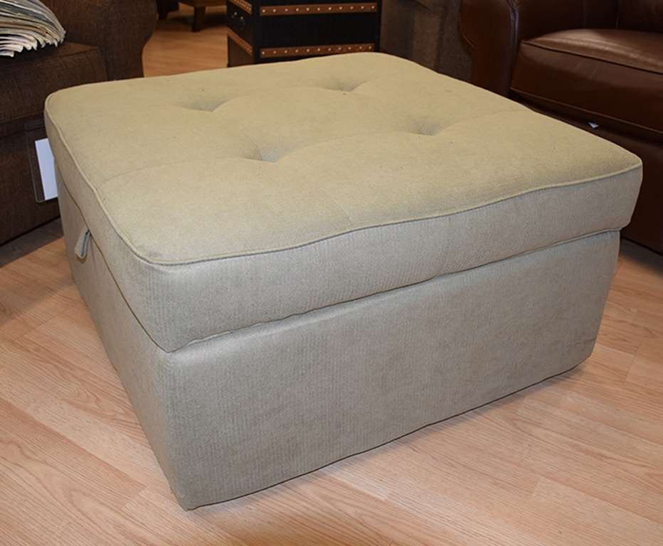 Fabulous Flexsteel Living Room Fabric Square Storage Ottoman Dailytribune Chair Design For Home Dailytribuneorg
