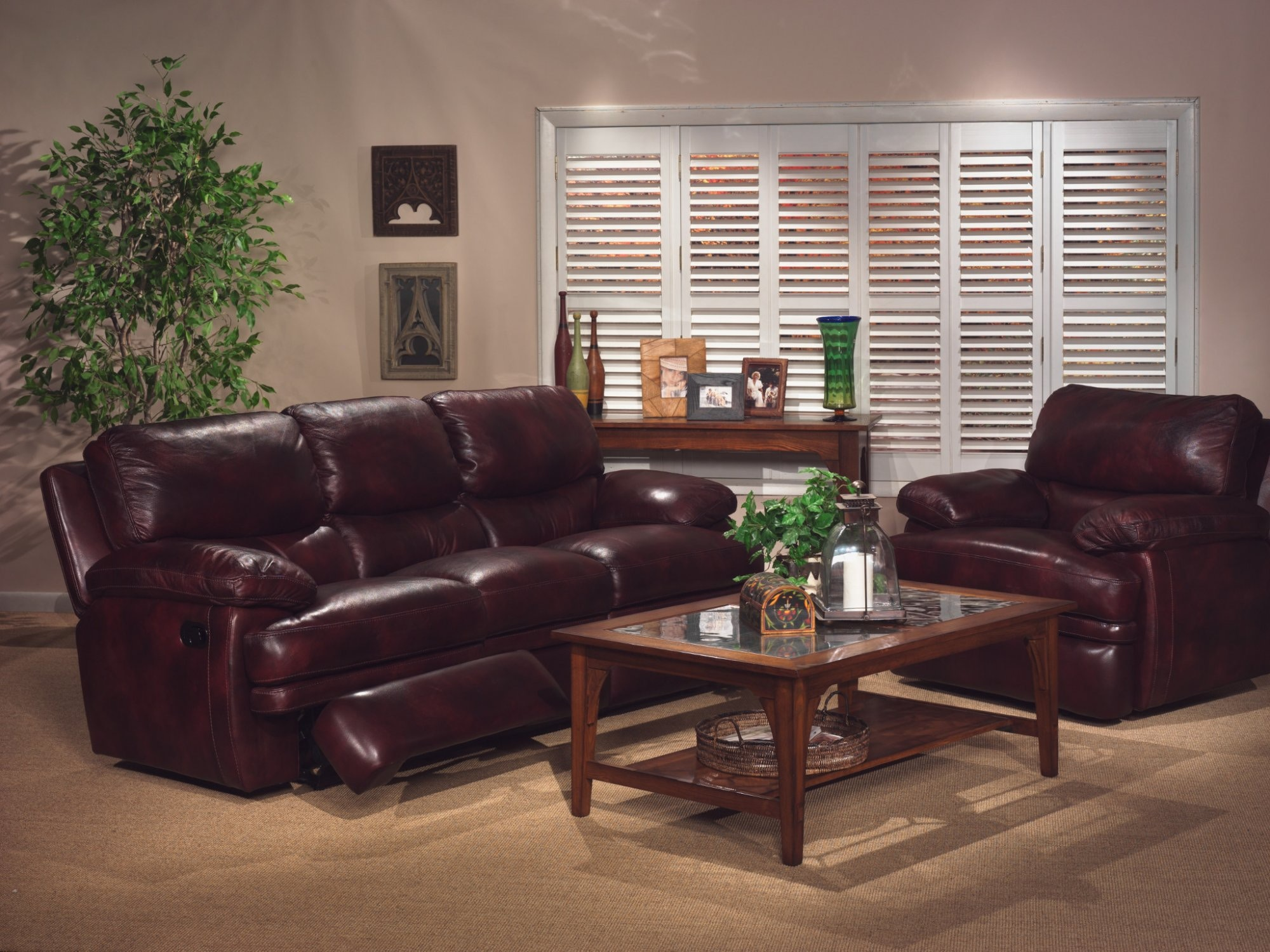 Genial Flexsteel Leather Reclining Sofa Without Chaise Footrests 1127 62