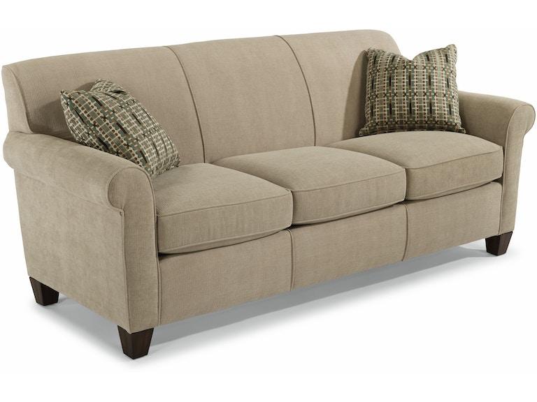 Flexsteel Living Room Dana Fabric Sofa 5990 31 Tin Roof