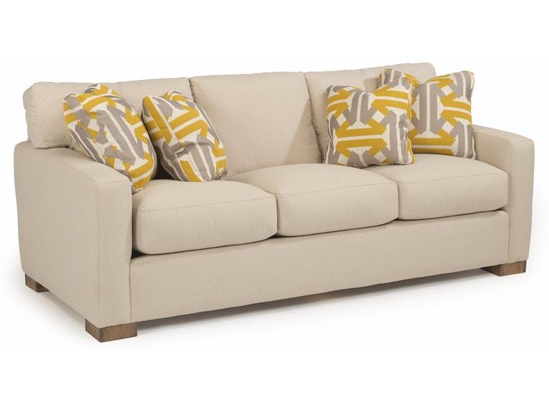 Flexsteel Living Room Bryant Fabric Sofa 7399 31 Tin