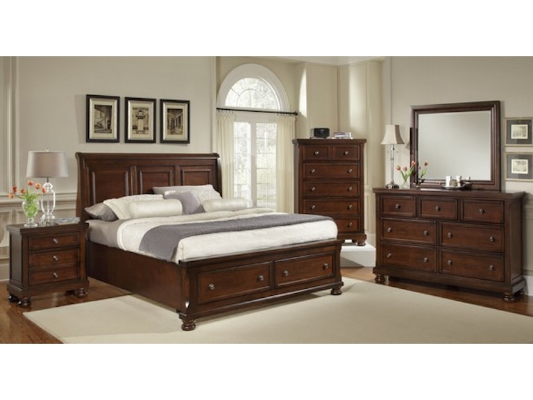 Vaughan Bassett Bedroom King Sleigh Storage Bed 530 King Storage Bed