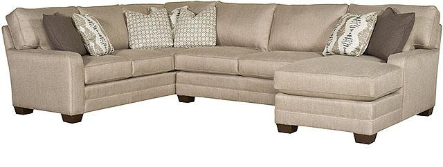 King Hickory Bentley Fabric Sectional 4400 SECT