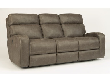 Flexsteel Fabric Power Reclining Sofa With Power Headrests 1326-62PH