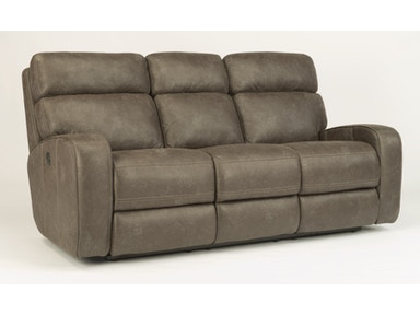Flexsteel Fabric Power Reclining Sofa With Headrests 1326 62PH
