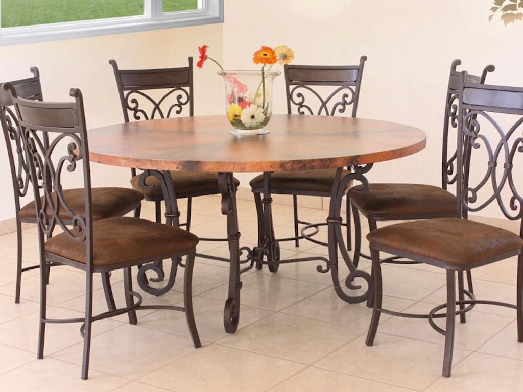 Copper Top Kitchen Table International Furniture Direct Valencia Copper Top 47 Inches