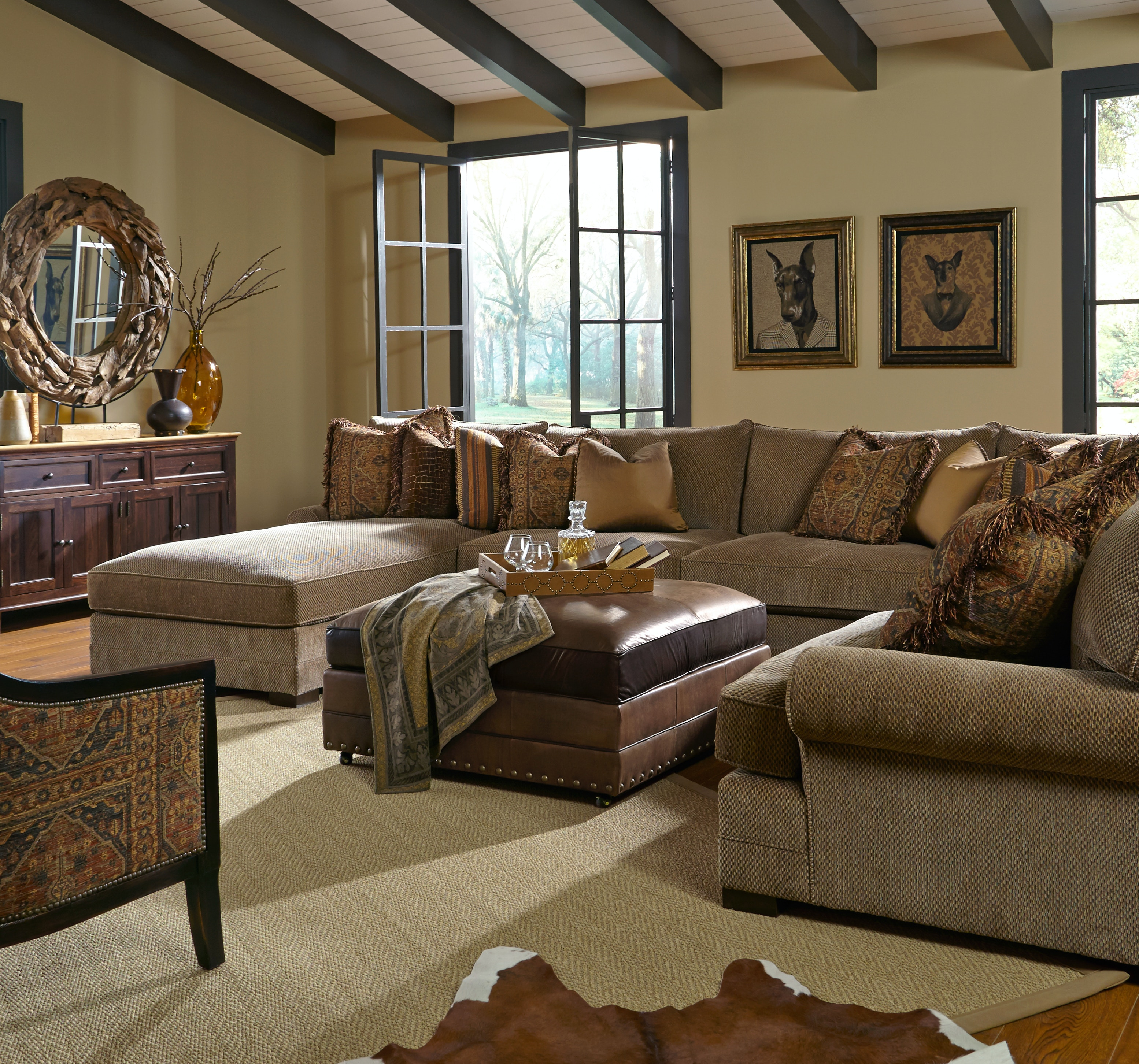 King Hickory Casbah Fabric Sectional 1100 SECT