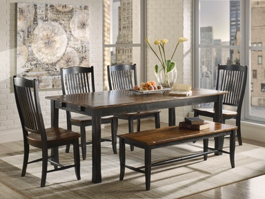 Canadel Rectangular Table With Legs TRE3878-3363DHDNF Set