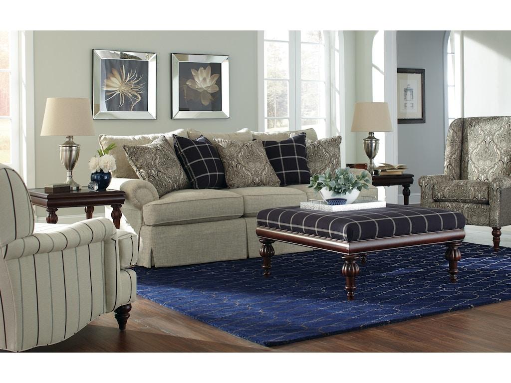Craftmaster Living Room Three Cushion Sofa 927550 Craftmaster Hiddenite Nc