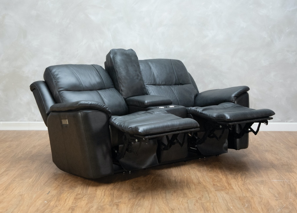 Phenomenal Leather Power Reclining Loveseat With Console And Power Headrests Pdpeps Interior Chair Design Pdpepsorg
