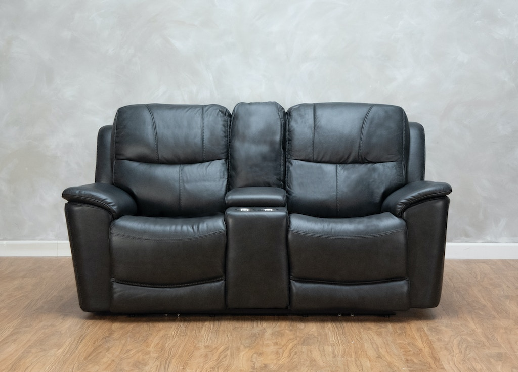 Brilliant Leather Power Reclining Loveseat With Console And Power Headrests Pdpeps Interior Chair Design Pdpepsorg