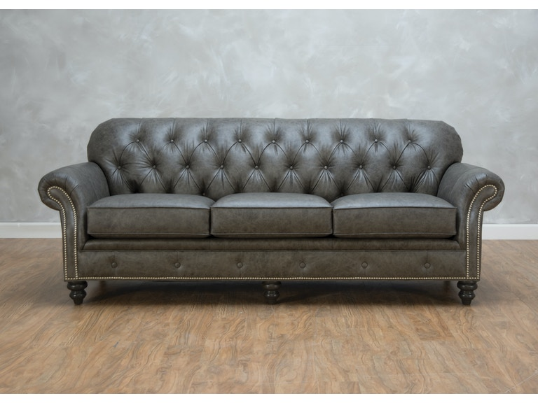 Smith Brothers Weiman Leather Sofa