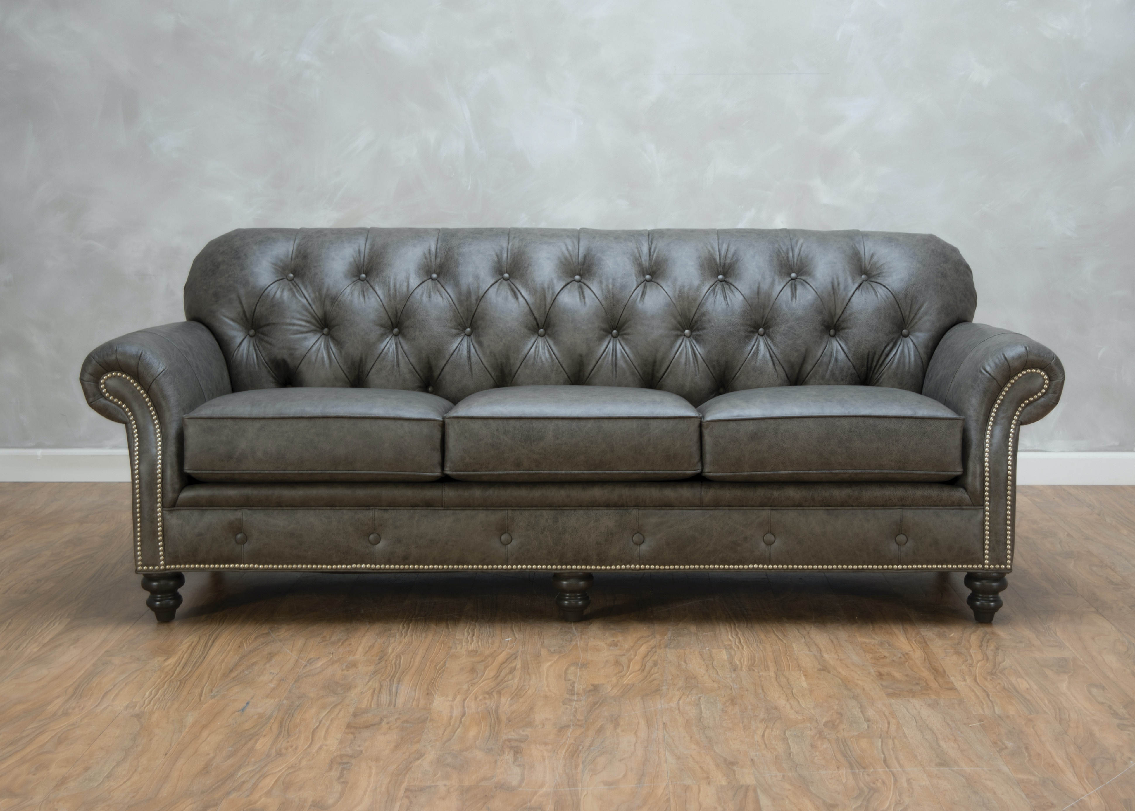Smith Brothers Weiman Leather Sofa 555335