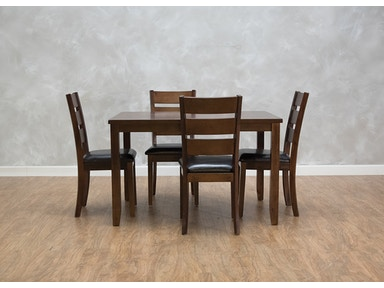 523875 Meadow Dining Table 4 Side Chairs