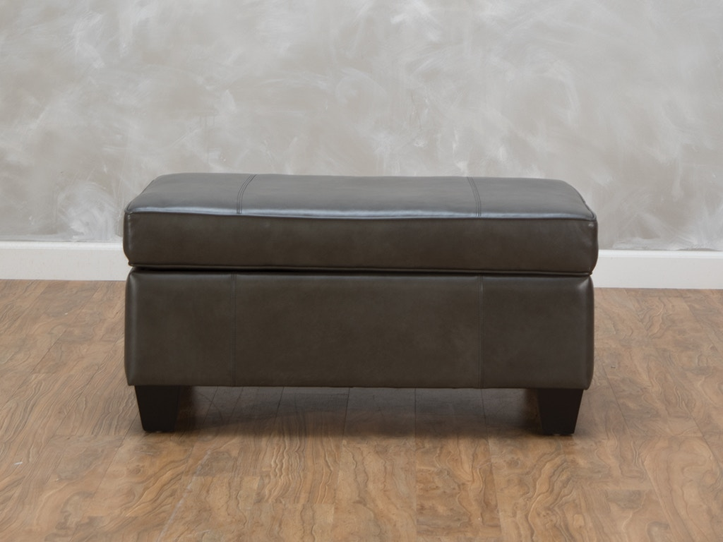 Smith Brothers Chelsea Leather Storage Ottoman 494927