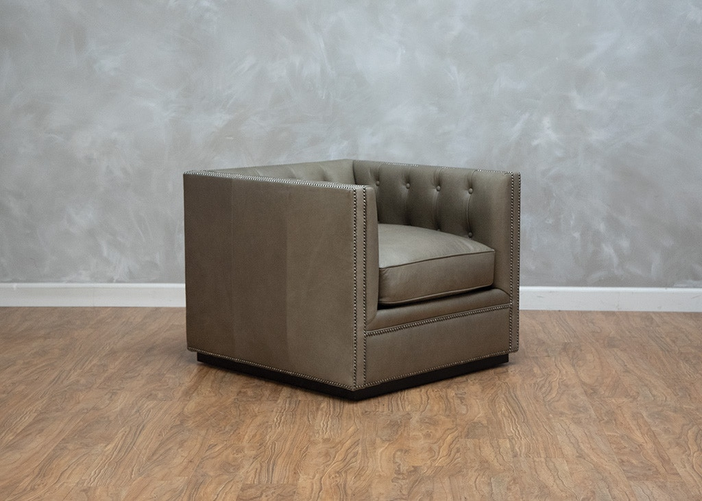 Century Furniture Living Room Modern Chesterfield Chair 559679