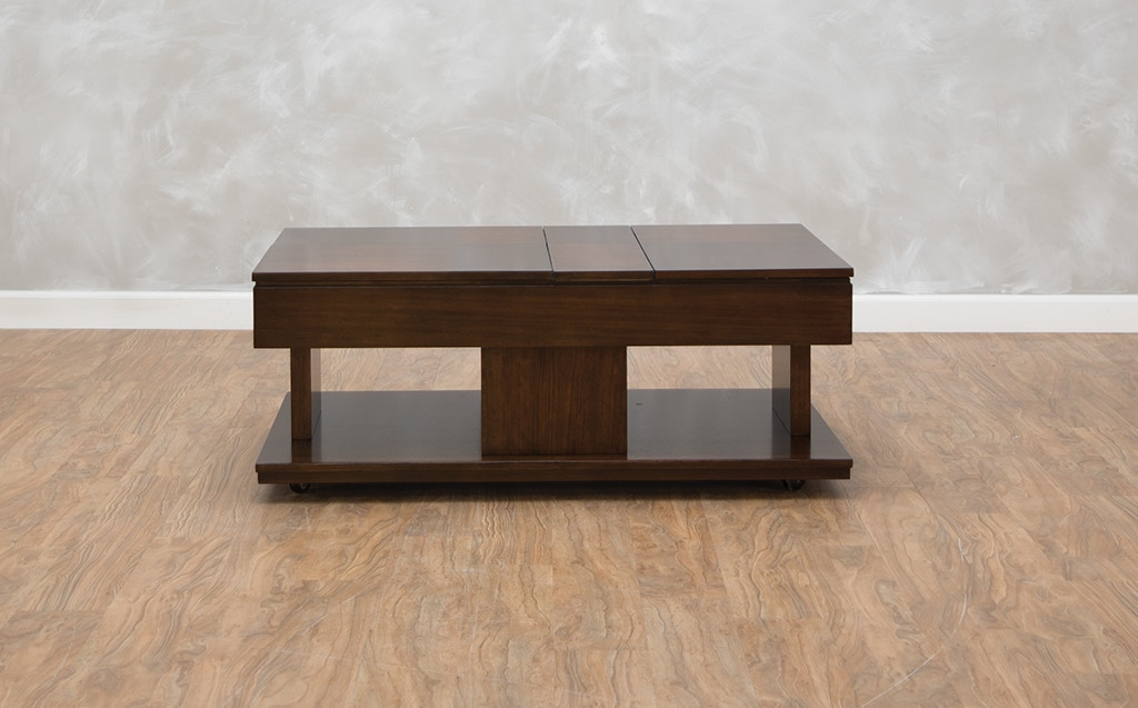 Dwelling Living Room Lemans Double LiftTop Cocktail Table - Double lift top cocktail table