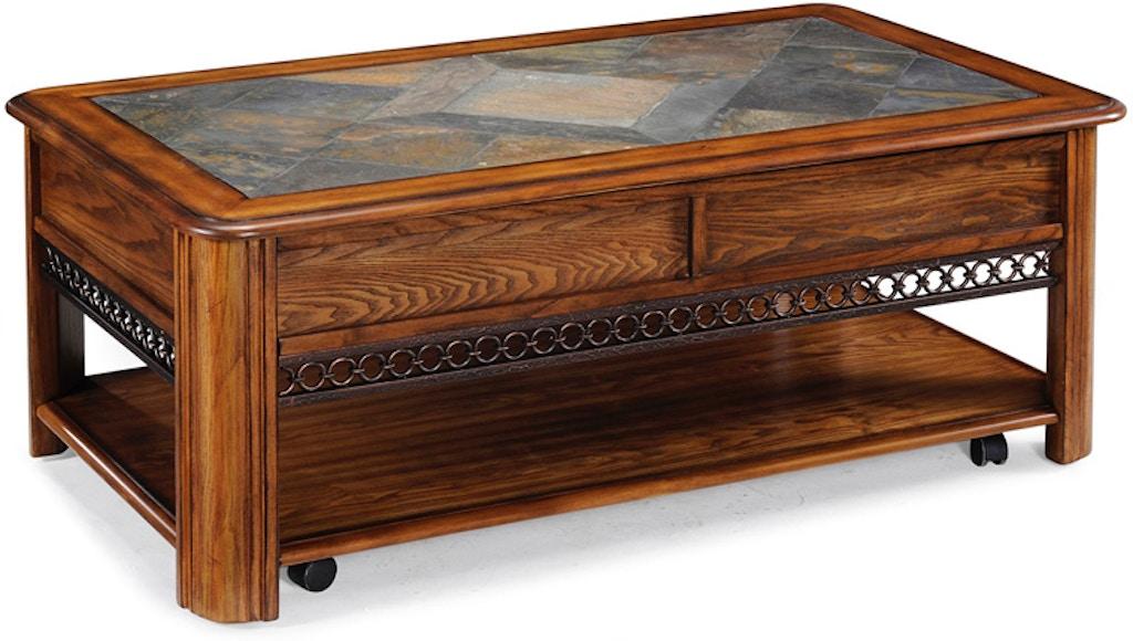 Magnussen Home Living Room Madison Rectangular Lift Top Cocktail