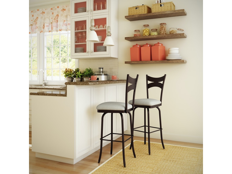 Amisco Bar And Game Room Meadow Swivel Bar Height Stool