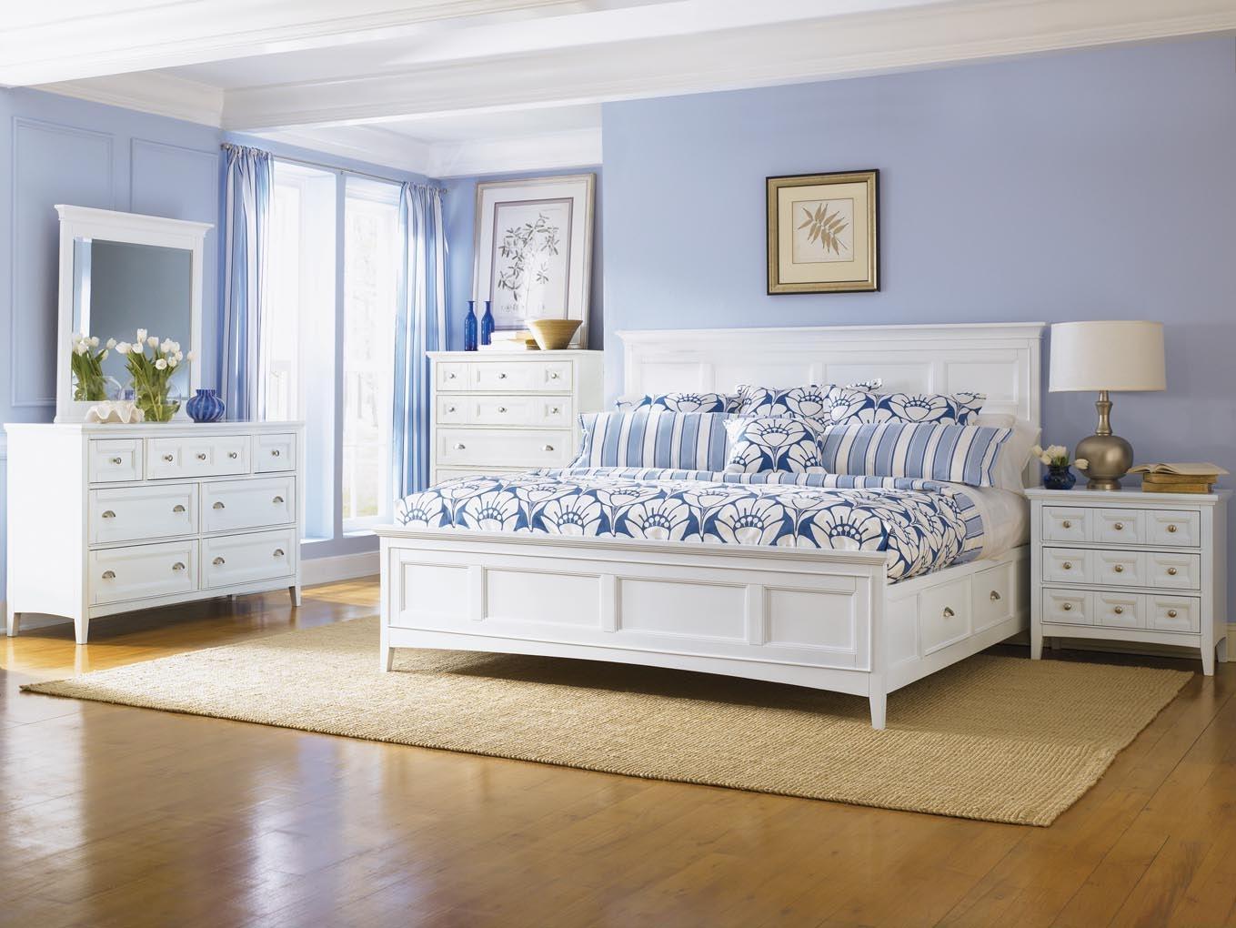 Magnussen Home Bedroom Complete Queen Panel Bed With Regular Rails