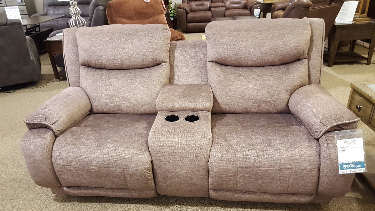 Southern Motion Living Room Double Reclining Console Sofa