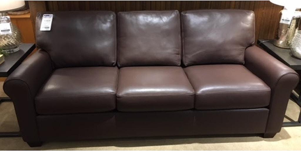 American Leather Living Room Three Cushion Sofa Svy So3 St