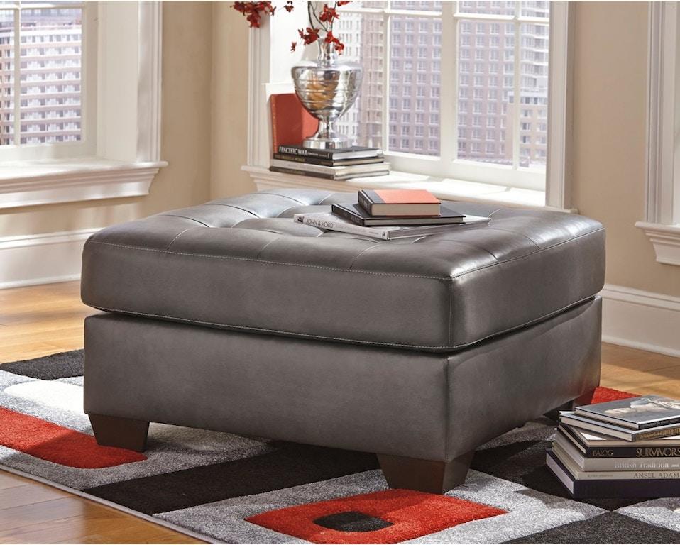 Strange Alliston Durablend Gray Oversized Ottoman Creativecarmelina Interior Chair Design Creativecarmelinacom