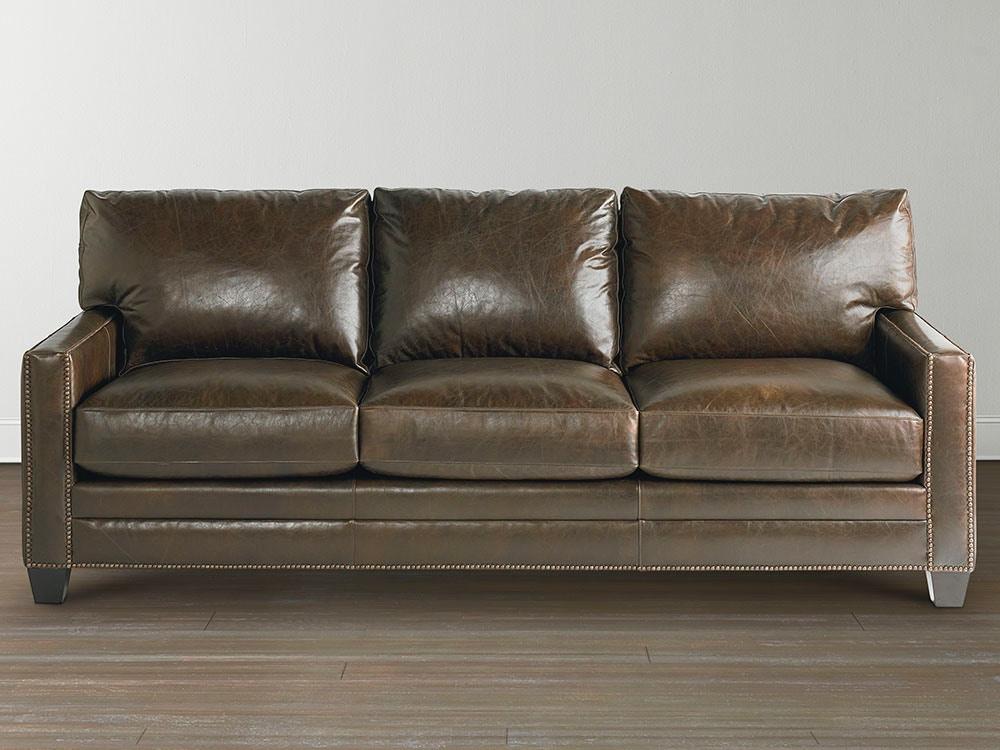 Bassett Leather Sofa 813767 Custom