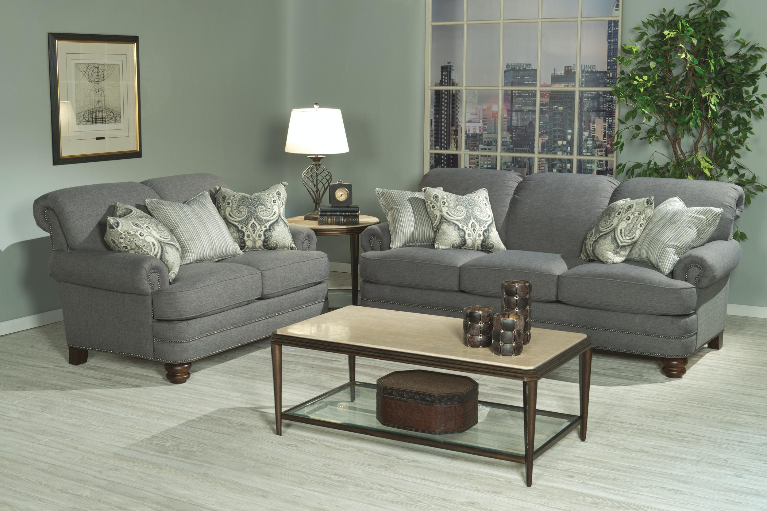 flexsteel sofa with pillows - Flexsteel Sofas