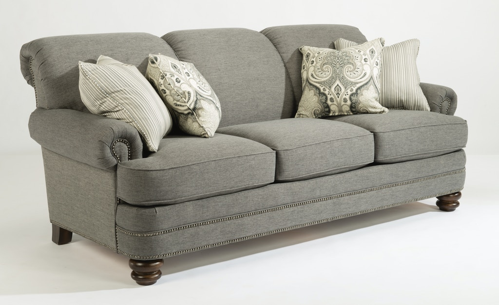 Flexsteel Sofa with Pillows 657955 - Talsma Furniture - Hudsonville ...