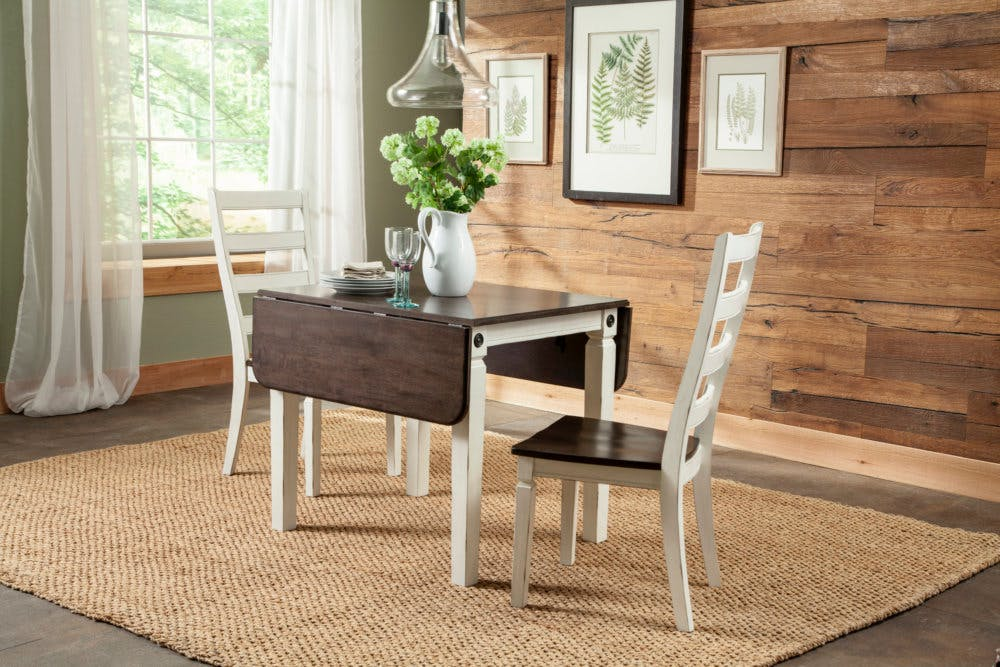 Image of: Intercon Glennwood Drop Leaf Dining Table And 2 Side Chairs 825143 Talsma Furniture