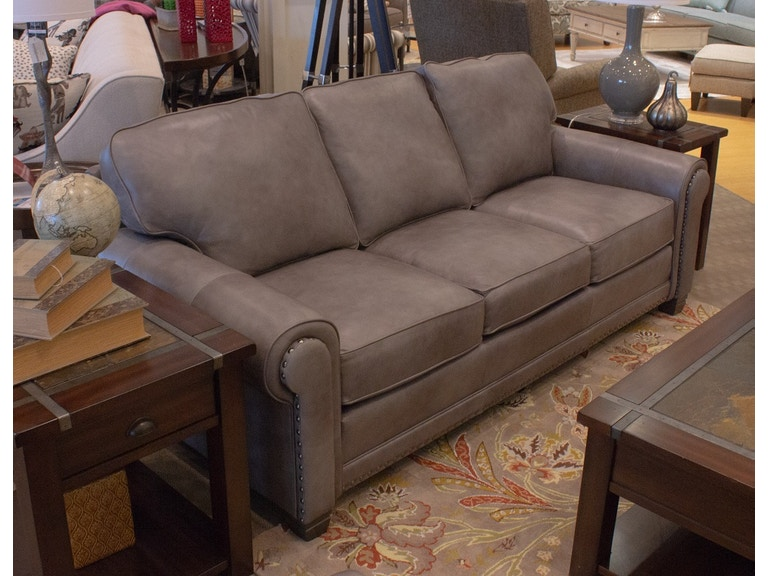 Smith Brothers Leather Sofa 688277