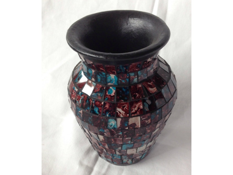 Global Imports Accessories Mosaic Vase Bb5075 Exotic Home Coastal