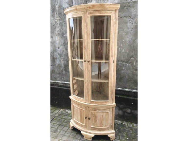 Global Imports Dining Room Corner Cabinet W/ Glass Doors ...