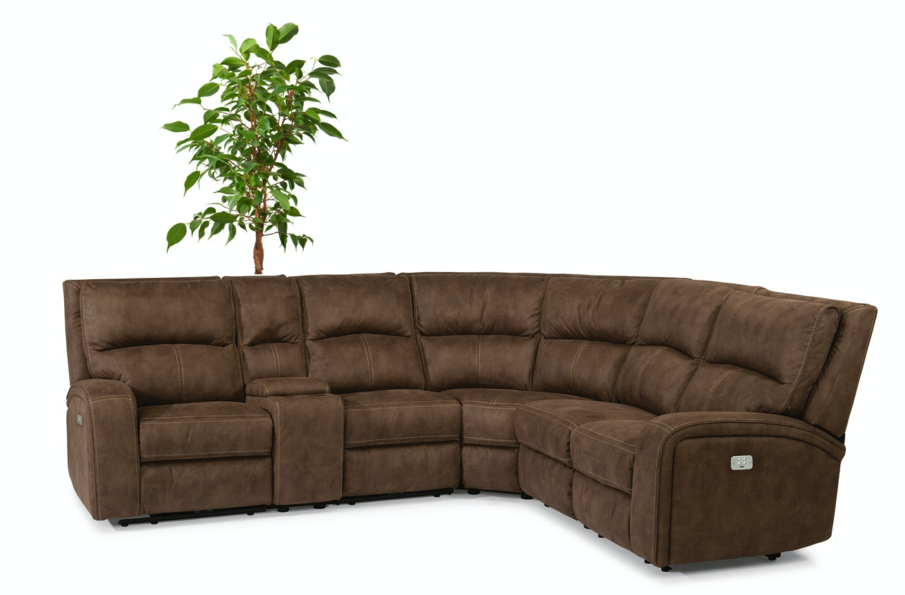 Flexsteel vail sectional flexsteel vail sofa nuvo for Flexsteel 4 piece sectional sofa with right arm facing chaise in brown