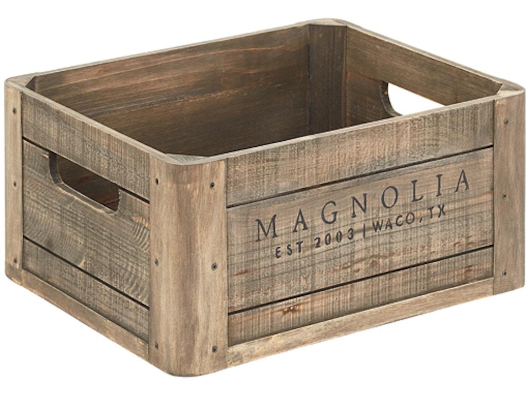 Magnolia Home Kitchen Wood Crate W Magnolia Logo 90902008