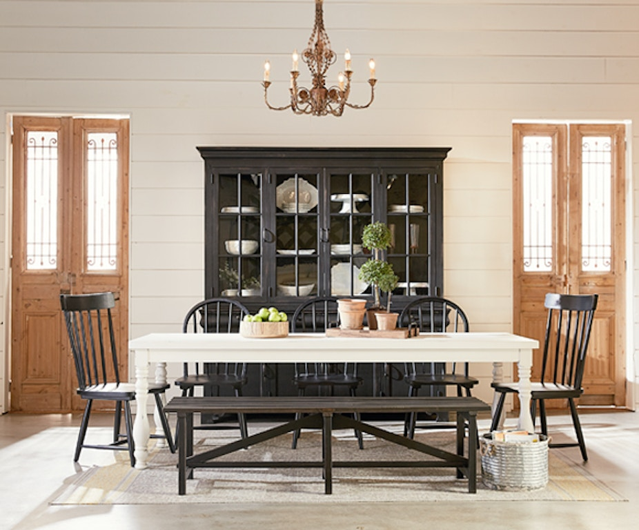 Magnolia Home Bar And Game Room Bench Open Slat Chimney