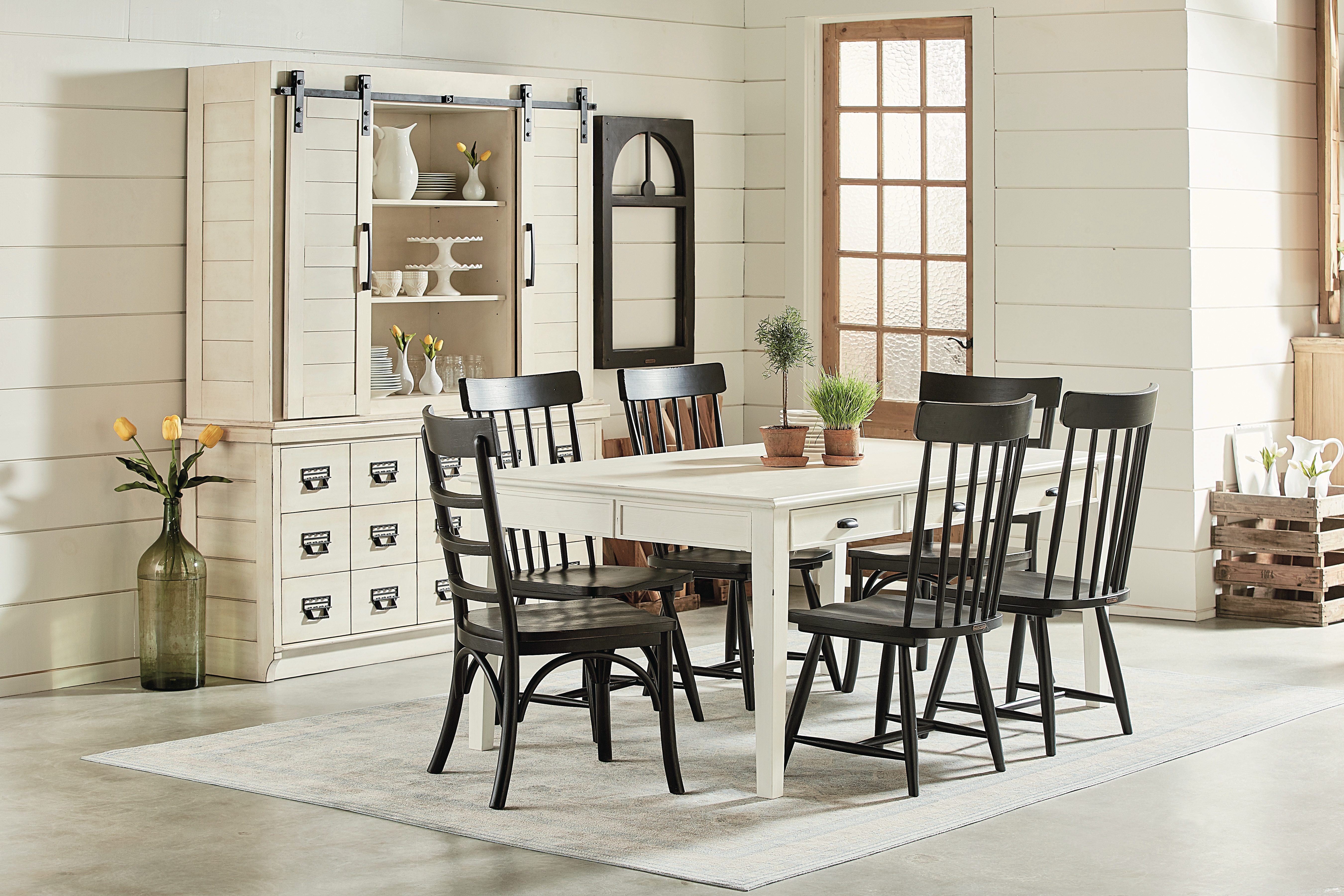 Dining Room 6 Chairs Part - 49: Magnolia Home Farmhouse Keeping Table SETTING 6010101B TABLE U0026 6 CHAIRS