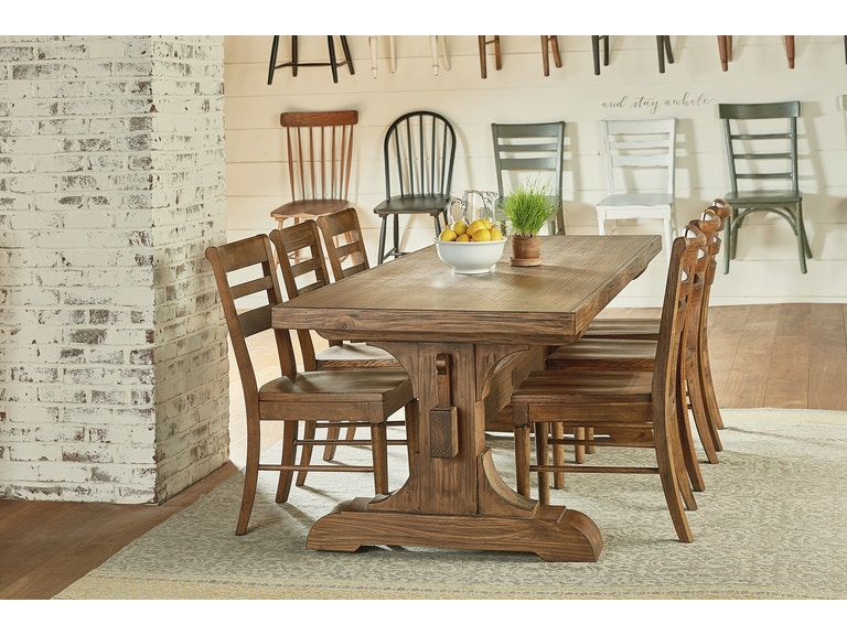 Magnolia Home Keyed Trestle Table Setting With 6 Chairs 6010501r
