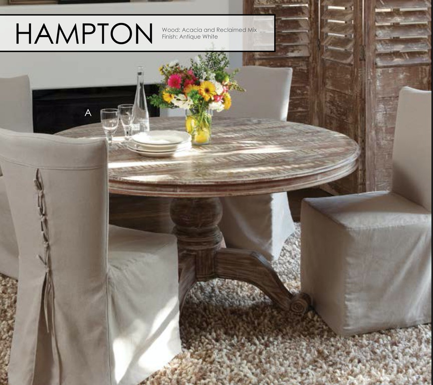 Hampton Round Dining Table 60\