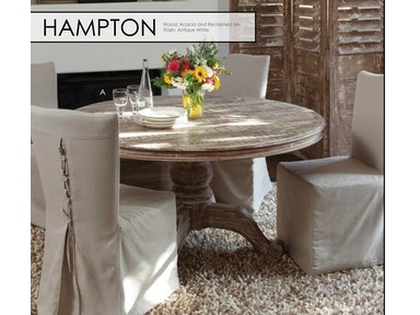 "Classic Home  Hampton Round Dining Table 60"" 51001261 Hampton Round Dining Table 60"" 51001261"