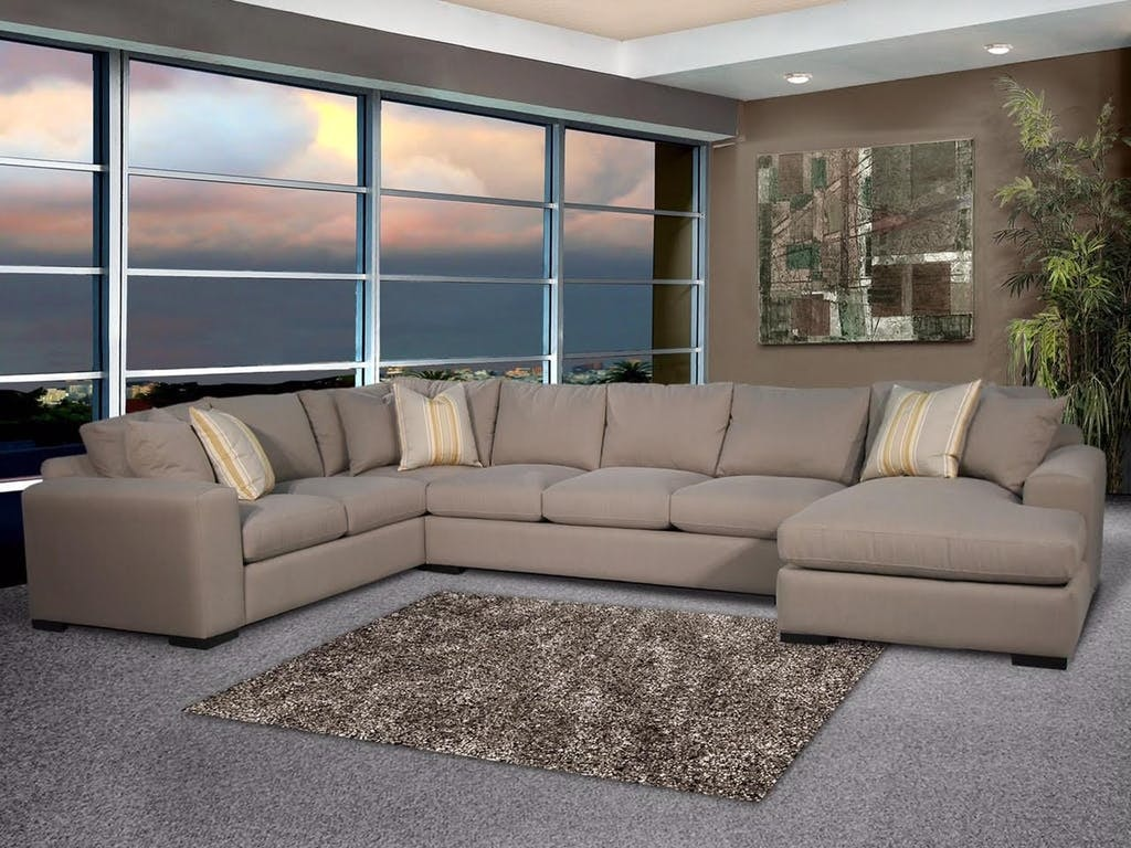 Robert Michael FAIRMONT STYLE SECTIONAL WITH CHAISE VIBE SECTIONAL : robert michael rocky mountain sectional - Sectionals, Sofas & Couches