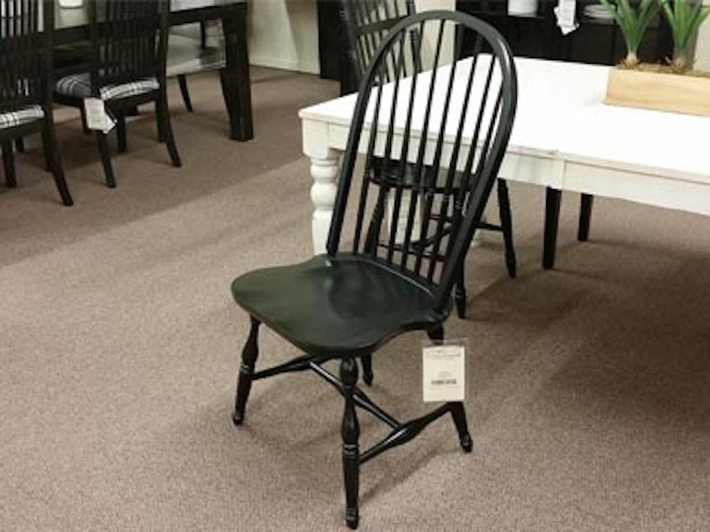 Bermex modern farmhouse bowback side chair 10251