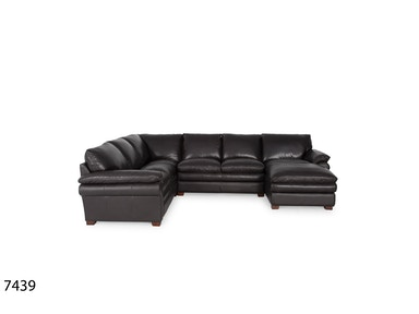 Futura Leathers Monthana Genuine Leather Luxury Sectional 7439
